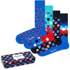 4-Pack Happy Socks Navy Gift Box 650